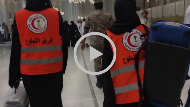 الفرق التطوعية النسائية بهيئة الهلال الاحمر السعودي