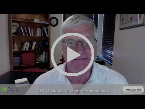 Paddocks Press Video 17: CSOS Duties of executives