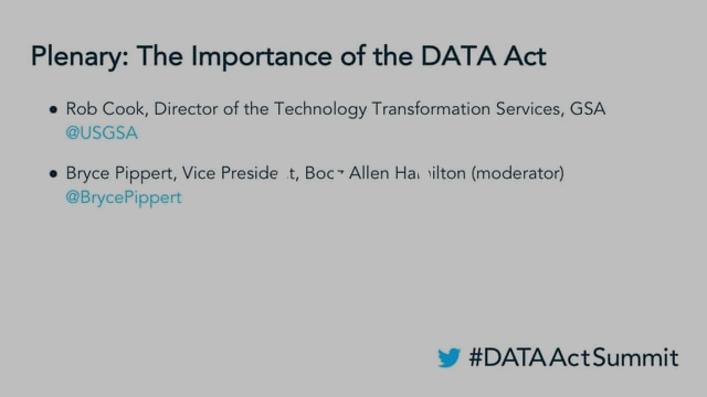 DATA Act Summit '17 - Plenary: The Importance of the DATA Act