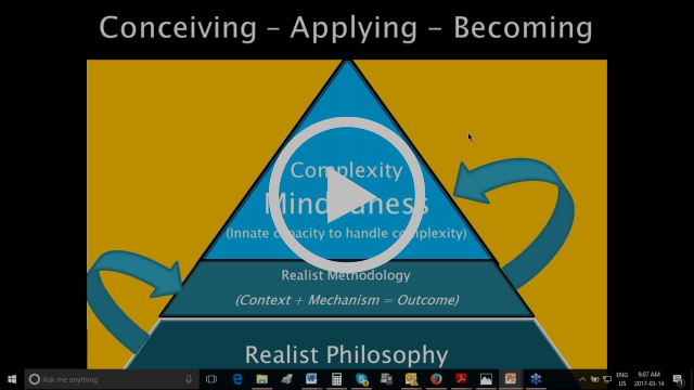 CECAN Webinar  Realist Methodology for Complexity Mindful Evaluations in the Nexus