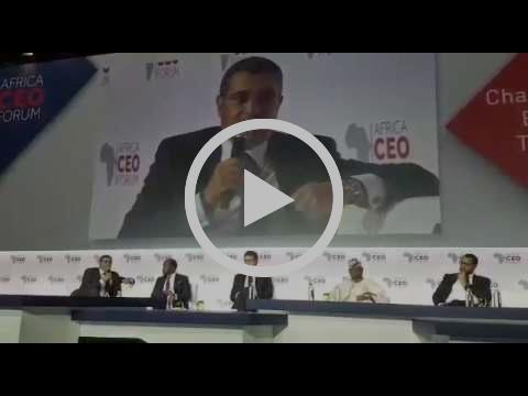 Intervention de Said Ibrahimi à l'Africa CEO Forum 2017