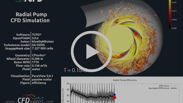 Pump CFD Simulation TCFD Contamination Efficiency
