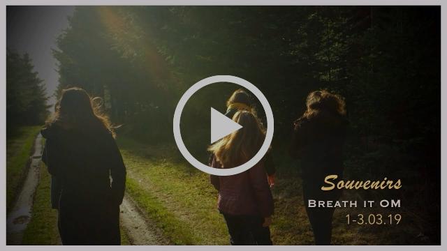 """Voir vidéo diaporama Souvenirs """"Réspirer...OM"""" Retraite yoga et nature à Lignières Orgères en Normandie 1-3.03.2019"""
