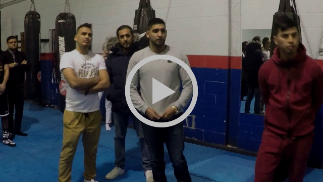 2X World Champion Amir Khan at KOMBAT ARTS   Boxing Classes Mississauga