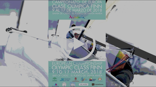 Highlights from Day 2 at the Finn European Championship in Cadiz