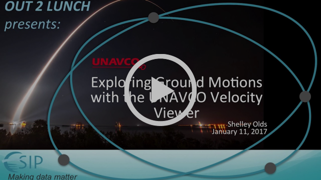 Out2Lunch Exploring Ground Motions - UNAVCO Velocity Viewer