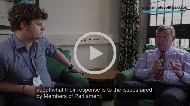 From The Horse's Mouth: Backbench Business interview. MP debate in the House of Commons, UK Politics