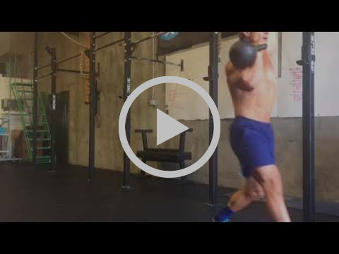Mixed KB Rack Walking Lunge (Rack + OH)