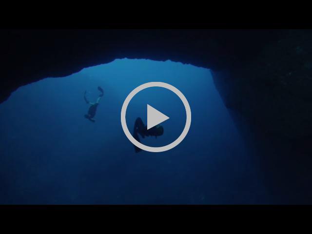 Freediving the Cuevas De La Luz, Ibiza