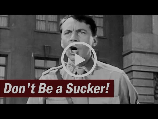 Post-WW2 Anti-Fascist Educational Film | Don't Be a Sucker | 1947