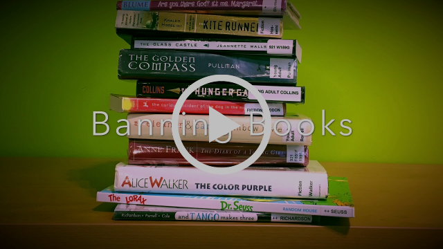 Pile of books with Play button on it. Picture links to video in Youtube.