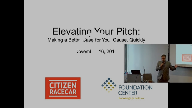 """""""Elevating Your Pitch"""" November, 2016"""