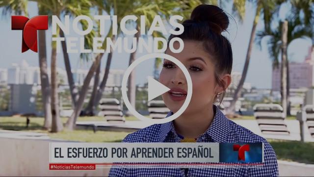 Crece el interés de latinos nacidos en EEUU por la lengua española | Noticiero | Telemundo