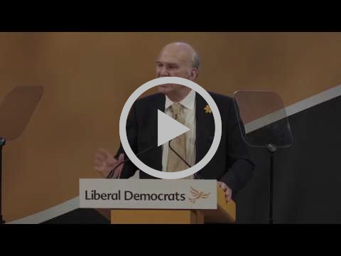 Vince Cable speaking