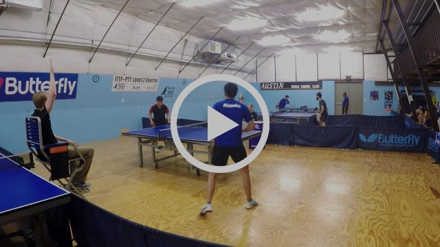2017 Texas State Table Tennis Championships - Men's Finals - Yahao Zhang vs Zixiang Meng