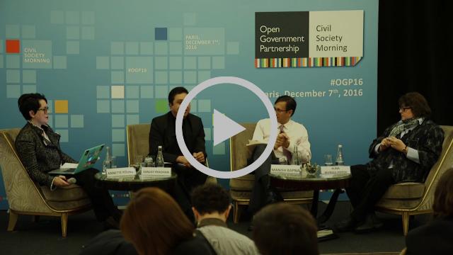 Civil Society Fireside Chat with Sanjay Pradhan, Manish Bapna, Alina Mungiu-Pippidi