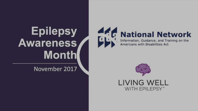 Epilepsy Awareness Month November 2017 video still