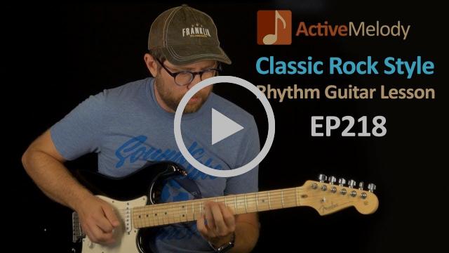 Classic Rock Rhythm Guitar Lesson (Includes Fill Licks) - EP218