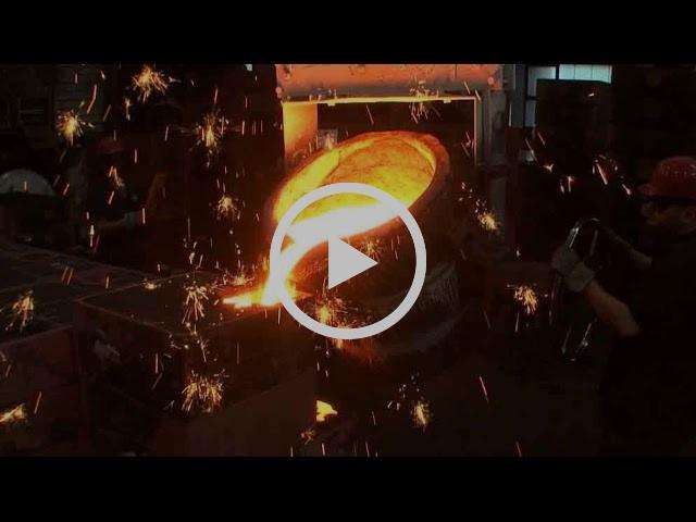 Casting an iron wheel