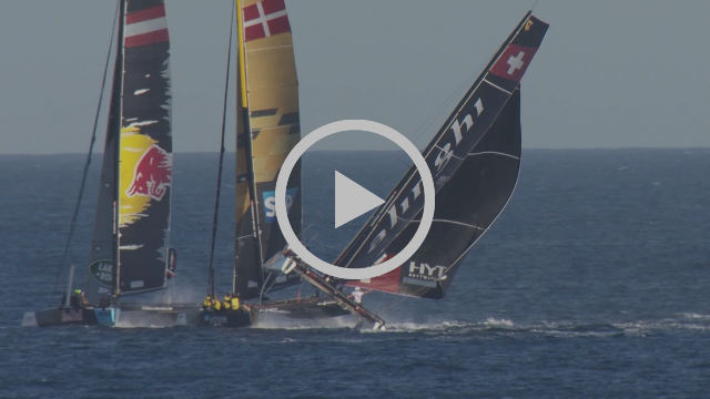 Act 8, Los Cabos, presented by SAP - Alinghi near capsize