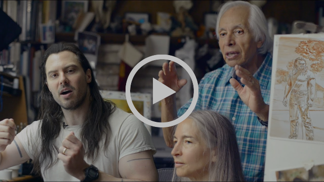 "Boris Vallejo and Julie Bell on painting Andrew W.K.'s album cover, ""You're Not Alone"""