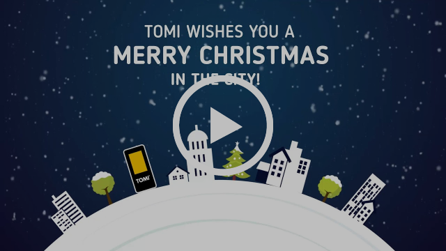 TOMI wishes you a Merry Christmas in the city!