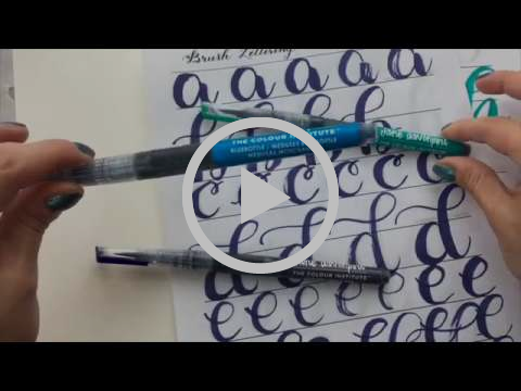 Learn Watercolor Brush Lettering with Mermaid Markers