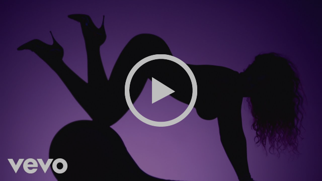 Beyoncé and Beyoncé's ass in silhouette with a purple background.