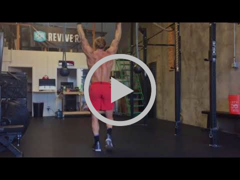 Overhead Barbell Carry with Dynamic Load