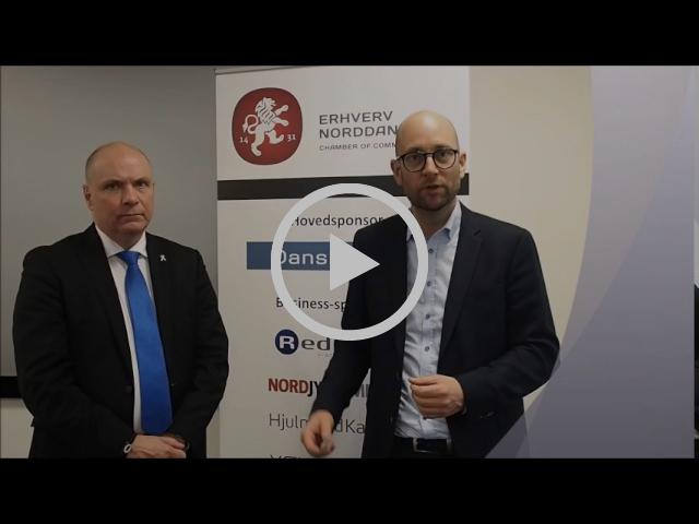 Rasmus Prehn og Søren Gade debatmøde i Erhverv Norddanmark