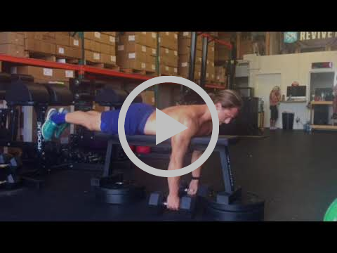 Dumbbell Prone Row