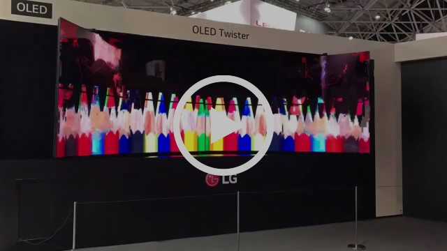 LG Flexible OLED TWISTER - time lapse -2x