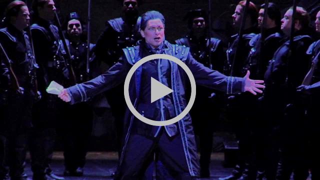 Carsten Wittmoser sings Don Pizarro's aria - Detroit Opera House rehearsal