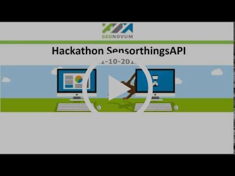 Webinar Hackathon SensorthingsAPI