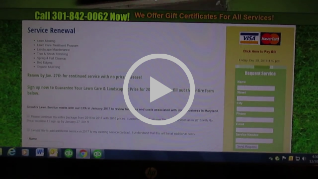 """Lawn Care Service Landscaping """"Accept Now"""" Link Hagerstown MD Williamsport MD Washington County MD"""