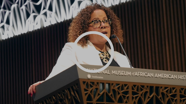 UD professor Erica Armstrong Dunbar at National Museum of African American History and Culture