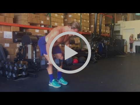 Dual DB Bent Over Row with Theraband Around Knees