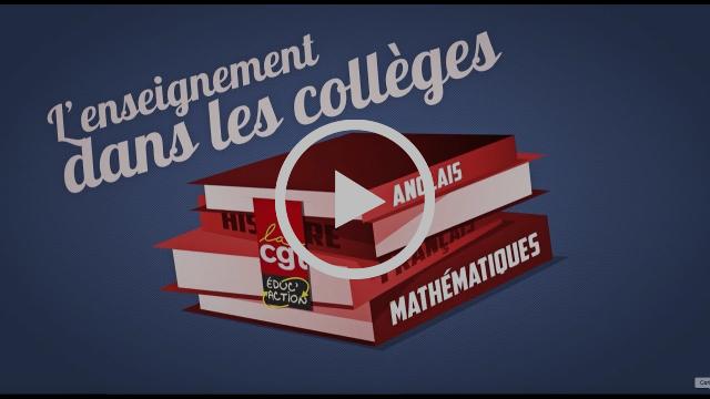 La vidéo CGT Éduc'Action sur le collège
