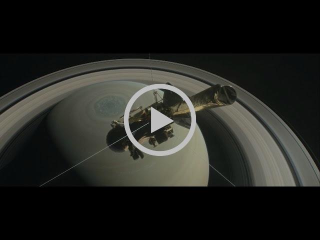 Video poster frame - Cassini near Saturn