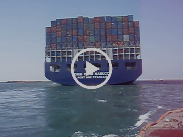 Suez Canal Container Vessel to Egyptian Launch
