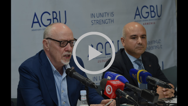 Terry George and Eric Esrailian Hold a Press Conference at AGBU Armenia