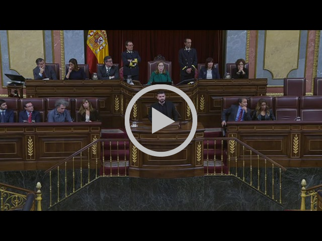 Discurs de Gabriel Rufián al debat d'investidura del Congrés dels Diputats