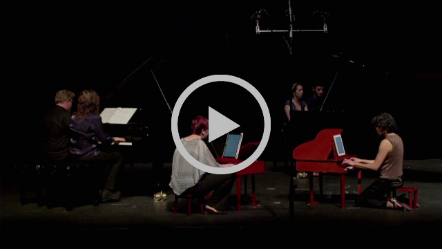 """Excerpt from """"Igor to Please"""" for 6 pianists by Tom Flaherty"""